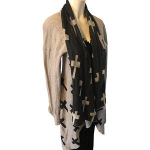 Long Sleeve Draped Open Front Cardigan Sweater M/L